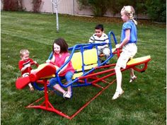 Lifetime Ace Flyer Teeter-Totter. The Ace Flyer Play Gym is constructed of powder-coated steel and high-density polyethylene (HDPE) plastic Price: $252.00 & FREE Shipping. You Save: $47.99 (16%) http://www.amazon.com/gp/product/B002XULJE6/ref=as_li_tl?ie=UTF8&camp=1789&creative=390957&creativeASIN=B002XULJE6&linkCode=as2&tag=smabisonl-20&linkId=MAA7SF2LF76VBFSQ
