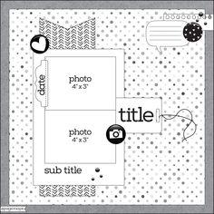 Scrapbook Patterns, Scrapbook Layout Sketches, Scrapbook Templates, Scrapbook Designs, Card Sketches, Scrapbook Paper Crafts, Scrapbooking Layouts, Cruise Scrapbook, Disney Scrapbook