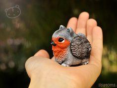 OMG!  .....Robin pygmy griffin by LisaToms.deviantart.com on @deviantART