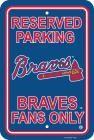 Atlanta Braves Parking Sign 12 In.x 18 In.