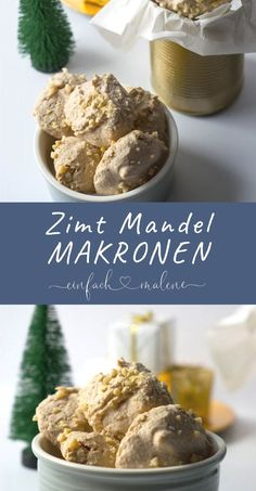 Diese Mandelmakronen mit Zimt schmecken einfach grandios und sind so einfach zu .These almond macaroons with cinnamon taste just terrific and are so easy to bake, foolproof recipe. The macaroons taste of marzipan and Best Holiday Appetizers, Appetizers For Kids, Finger Food Appetizers, Christmas Desserts, Holiday Recipes, Marzipan, Almond Macaroons, Cake Recipes, Dessert Recipes