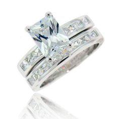 Cubic Zirconia Engagement Rings Emerald Cut 8