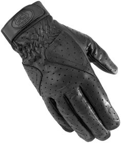 River Road Street Riding Gear Mesa Perforated Women's Leather Gloves