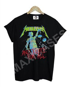 Metallica And Justice For All T-shirt Men Women and Youth