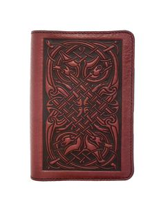 Leather Pocket Notebook Covers | Celtic Hounds | Oberon Design