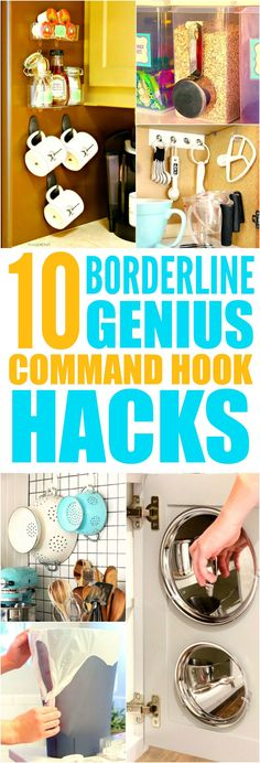 These 10 life changing command hook hacks are THE BEST! I'm so glad I found these AWESOME tips! Now I can organize and decorate my home! Definitely pinning for later!