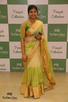 Green n white - Kids Dress Collection, Saree Collection, Saree Blouse Patterns, Saree Blouse Designs, Bridesmaid Saree, Tussar Silk Saree, Chiffon Saree, Plain Saree, Designer Sarees