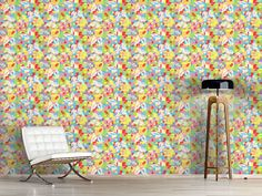 Design #Tapete Schmetterlingskaro
