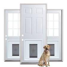 Image result for 32 exterior door with dog door
