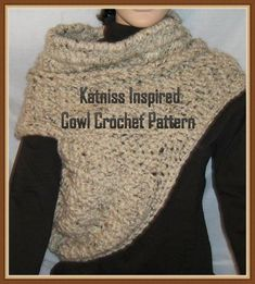 Katniss+Cowl+Inspired+by+Catching+Fire++Crochet+by+creeksendinc,+$5.50