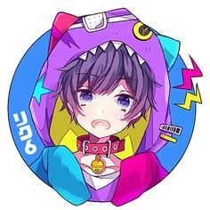 Not Mafumafu but I just wanted to save the watching icons too Anime Oc, Anime Neko, Anime Kawaii, Kawaii Art, Manga Anime, Cute Anime Boy, Anime Guys, Vocaloid, Japanese Illustration