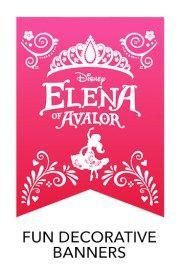 Banners - Free Printables freaturing Disney Princess Elena of Avalor