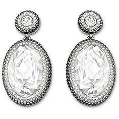 Swarovski Vita Crystal Boucles d'Oreilles -Un délicat dégradé de cristaux sertis Pointiage® soigneusement appliqués entoure un grand cristal dans la taille Cabochon exclusive – de l'opulence pure et simple !