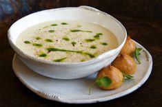 Cauliflower Soup with Morbier Air Profiteroles Recipe by Madalene Bonvini-Hamel; Chef, Photographer and Founder of The British Larder – The British Larder