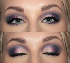 Purple eyeshadow for green eyes