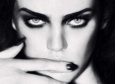 Striking eyes