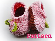 Cuteness Baby Slippers Crochet Pattern by LovelyPatterns on Etsy, $5.50