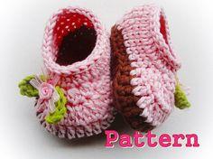 Cuteness Baby Slippers Crochet Pattern by LovelyPatterns on Etsy, $5.50