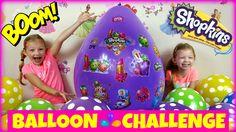 GIANT BALLOON CHALLENGE POP Shopkins Season 4 Surprise Eggs Shopkins Fas...