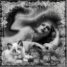 Ritratto di donna con gatto