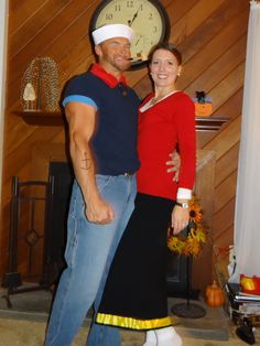 Homemade popeye and olive oyl costume happy holidays pinterest popeye and olive oyl solutioingenieria Image collections