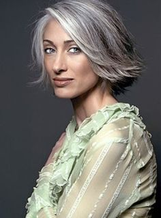 I'm tempted to chop my hair off like this while the gray grows out.