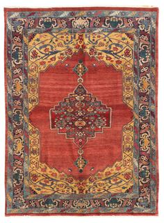 Geometric Oriental Rugs Gallery: Persian Bijar Rug, Hand-knotted in Persia; size: 5 feet 6 inch(es) x 7 feet 8 inch(es)