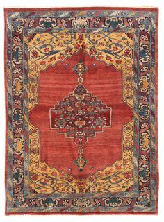 Geometric Oriental Rugs Gallery: Persian Bijar Rug, Hand-knotted in Persia; size: 5 feet 6 inch(es) x 7 feet 8 inch(es)