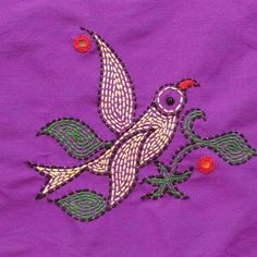 Most current Photographs kantha Embroidery Designs Style Embroidering is really a attractive way to provide light for the house and a fantastic passion to be able to Embroidery Neck Designs, Hand Embroidery Videos, Hand Work Embroidery, Bird Embroidery, Creative Embroidery, Hand Embroidery Stitches, Embroidery Techniques, Cross Stitch Embroidery, Embroidery Patterns