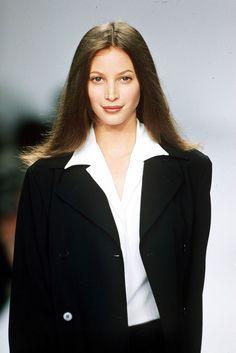 Top Supermodels, Original Supermodels, Star Fashion, 90s Fashion, Fashion Movies, Cher And Dionne, Alaia Dress, Jenny Shimizu, Calvin Klien