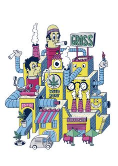 WEED ZONE - jaumeosman Grass Weeds, Bart Simpson, Character, Lettering