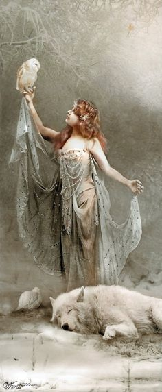 Belle Epoque Fantasy Plus Fantasy World, Fantasy Art, Fantasy Forest, Potnia Theron, Mystique, Illustration, Gods And Goddesses, Mythical Creatures, Belle Photo