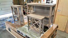 rustic bookshelf / end table set