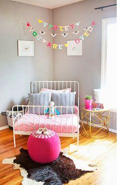 mommo design: GIRLS ROOMS | Little Girls room ideas. Decor. DIY Banner