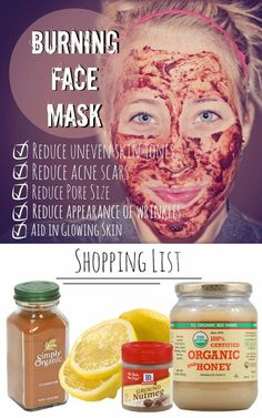 "Acne Treatment Overnight - Acne Treatment DIY Burning Face Mask: How to Reduce Acne Scars and Uneven Skin Tones ""By using ingredients found in your kitchen you can fight acne by drastically reducing uneven skin tone, reducing acne scars and reducing pore size."" Pinterest Comments (mixed): ""This mask made with nutmeg, cinnamon, lemons, and honey will help reduce acne scars and is a hormonal acne treatment. Great. Since I don't have any of those ingredients, I'll try it when I go home for…"