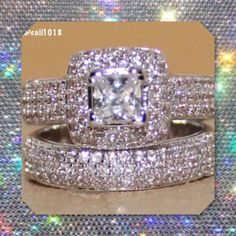 5item Hpnew 134pc Topaz Wedding Ring Set