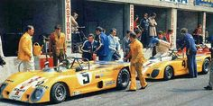 I like this picture! Jo Bonnier, left (in yellow). I think he was very happy with these nice BonGrip Lola T280 cars, HU1 and HU2. He's team (Ecurie Bonnier) could have been out there many more years if he had not been killed when he crashed one of these cars at Le Mans 1972