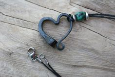 Horse shoe nail bracelet Hand forged heart by AlchemyArtworks Horseshoe Nail Art, Horseshoe Crafts, Iron Anniversary Gifts, 6th Anniversary, Horse Shoe Nails, Nail Jewelry, Jewlery, Horse Jewelry, Horse Necklace