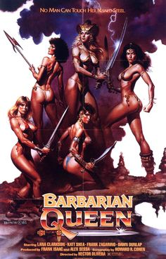a look at the swords & sorcery movies of the 1980s - Barbarian Queen poster