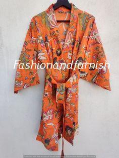 Floral Gown, Floral Kimono, Cotton Kimono, Cotton Fabric, Cotton Bag, Winter Kimono, Plus Size Robes, Kimono Fashion, Printed Cotton