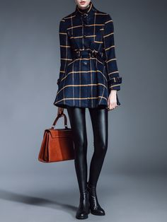 #StyleWe Shop TCG Coats - Casual Checkered/Plaid Wool Blend Long Sleeve Turtleneck Coat online. Discover unique designers fashion at AdoreWe.net.