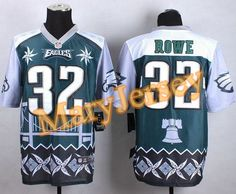 """$35.88 at """"MaryJersey""""(maryjerseyelway@gmail.com) Nike Eagles 32 Eric Rowe Midnight Green Men Stitched NFL Elite Noble Fashion Jersey"""