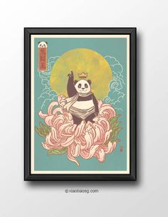 """<b>KO003+-+Kumaneko+Ousama-+Pandasattva+</b>+  """"The+mind+is+everything.+What+you+think,+you+become."""" *Frame+not+included*  Size:+<b>A3+or+A4+250GSM+Texture+paper</b>  Each+print+will+be+signed+on+the+front.  Check+my+<a+href=""""http://www.facebook.com/pages/xiaobaosg/147232050752"""">facebook..."""