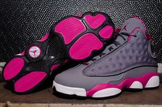 Air Jordan 13 Retro GS - Cool Grey / Fusion Pink | KicksOnFire