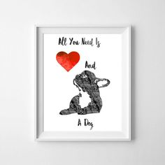 All you need is love and a DogFrench bulldog Frenchie black