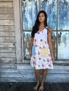 Sally dress-small medium-artsy-Eco Clothing-Upcycled by lovehigher