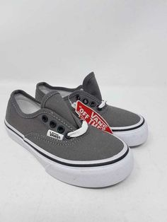 59d773eeb3 VANS AUTHENTIC PEWTER BLACK SKATE SNEAKERS YOUTH SIZE 11 NEW WITHOUT BOX   fashion  clothing  shoes  accessories  kidsclothingshoesaccs  unisexshoes  (ebay ...