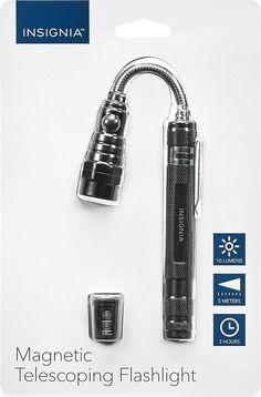 Insignia™ - Magnetic Telescoping Flashlight