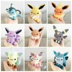 """2,433 Synes godt om, 28 kommentarer – Fifi (@geek_girl_fi) på Instagram: """"These fluffy eeveeloutions are by @peachaddict ・・・ #throwbackthursday to my eeveelution collection…"""""""