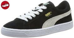 Puma Suede Jr, Unisex-Kinder Sneakers, Schwarz (black-white 01), 31 EU (12 Kinder UK) - Puma schuhe (*Partner-Link)